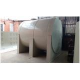 reservatório cilíndrico para armazenar água em São Vicente