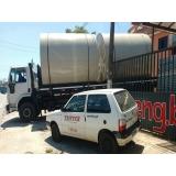 tanque de água horizontal enterrado sob medida São Domingos