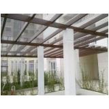 telhado de policarbonato alveolar no Jardim Ângela