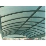 telhado de policarbonato para iluminação na Vila Clementino